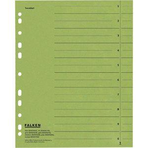 Trennblätter Falken 80001639, A4, grün
