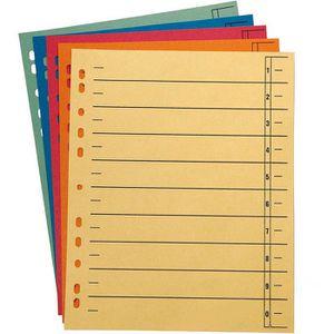 Trennblätter Wekre A4, farbig sortiert