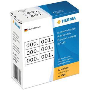 Nummernetiketten Herma 4800, 10 x 22mm