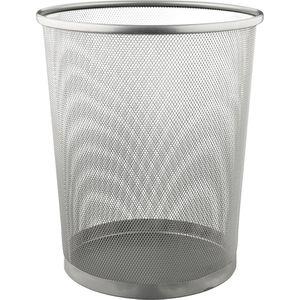 Papierkorb Böttcher-AG Mesh Line, silber