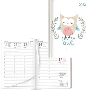 Buchkalender Alpha Ladytimer Lovely Owl, Jahr 2021