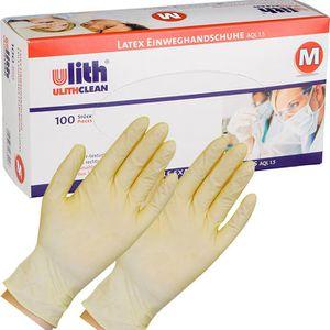 Einmalhandschuhe Ulith Latex, gepudert, 81680