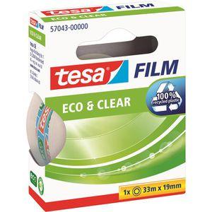 Klebeband Tesa 57043, Eco & Clear, 19mm x 33m