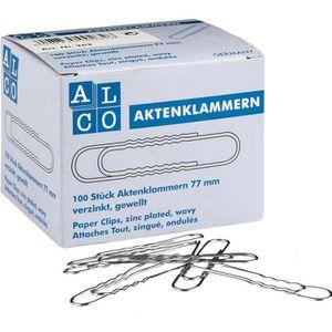 Büroklammern Alco 262, 77mm, silber