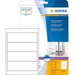 Rückenschilder Herma 5095 Special, weiß