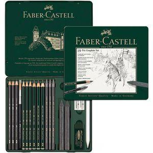 Graphite-Set Faber-Castell Pitt 112973, 19-teilig