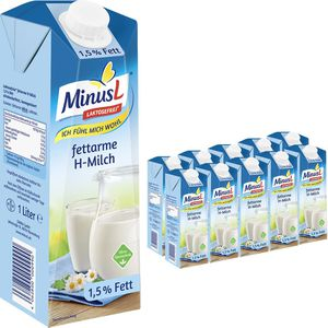 Milch MinusL laktosefreie H-Milch 1,5% Fett