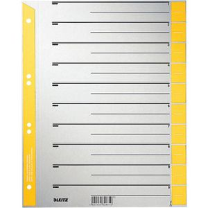Trennblätter Leitz 1652-30-15, A4, grau/gelb