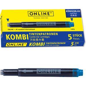 Füllertinte Online 17036 Kombipatrone, blau