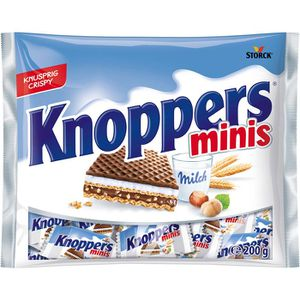 Waffeln Knoppers Minis Milch-Haselnuss-Schnitte