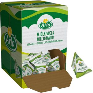 Milch Arla fettarme H-Milch-Portion 1,5% Fett