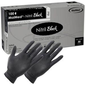 Einmalhandschuhe MaiMed Nitril black, puderfrei