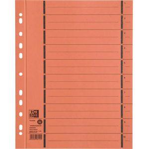 Trennblätter Oxford 400004669 A4 perforiert orange
