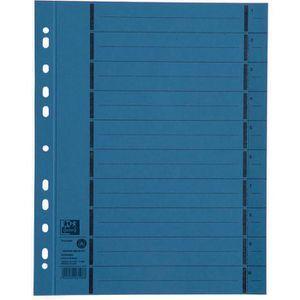 Trennblätter Oxford 400004665 A4, perforiert, blau