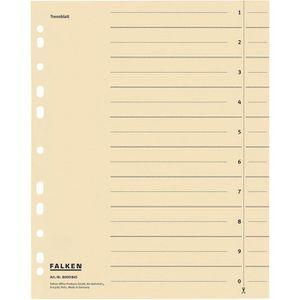 Trennblätter Falken 80001845, A4, chamois