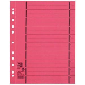 Trennblätter Oxford 400004670, A4, perforiert, rot