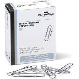 Büroklammern Durable 122425, 50mm, silber