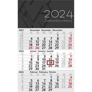 3-Monatskalender Alpha 101641, Jahr 2021