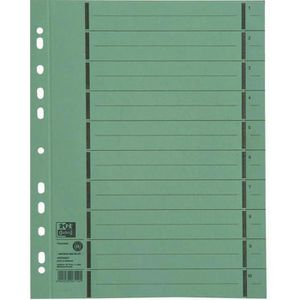 Trennblätter Oxford 400004667 A4, perforiert, grün