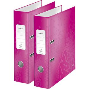 Ordner Leitz 1005-00-23 WOW laminierter Karton, A4
