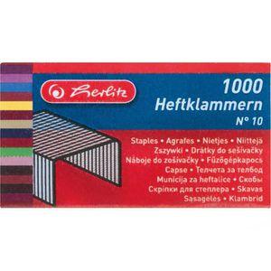 Heftklammern Herlitz 08760613, No.10, verzinkt