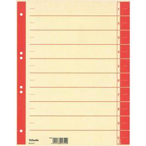 Trennblätter Esselte 621019, A4, chamois/rot