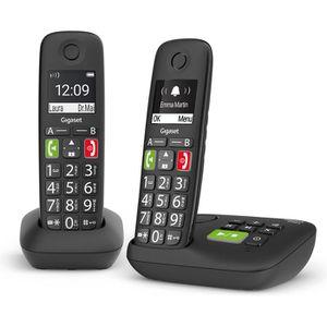 Telefon Gigaset E290A Duo, schwarz