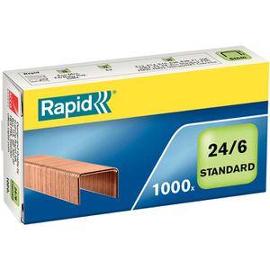 Heftklammern Rapid 24855700, 24/6, verkupfert