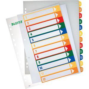 Register Leitz 1294-00-00, A4 Überbreite, 1-12