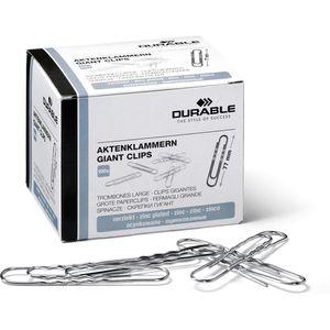 Büroklammern Durable 122725, 77mm, silber