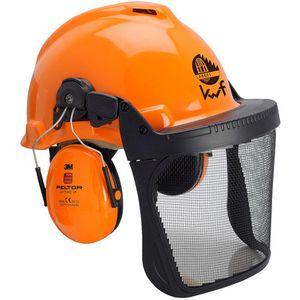 Forsthelm 3M Kopfschutz-Kombination G22D, orange