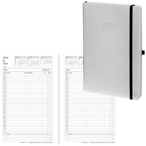 Buchkalender Chronoplan 50951, White Edition, 2021