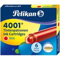 Füllertinte Pelikan 4001 TP6, 301192, rot