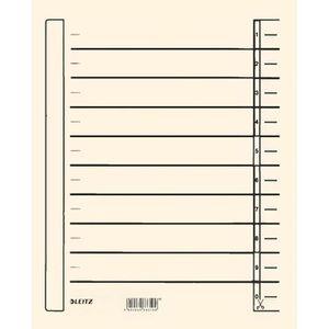 Trennblätter Leitz 1657-00-11, A4, chamois