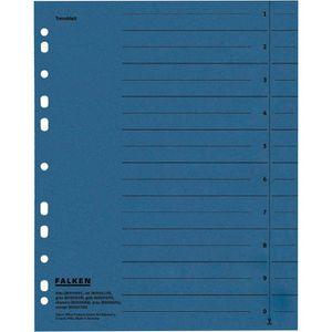 Trennblätter Falken 80001605, A4, blau