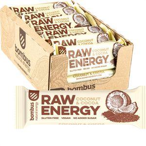 Müsliriegel bombus Raw Energy, Coconut & Cocoa