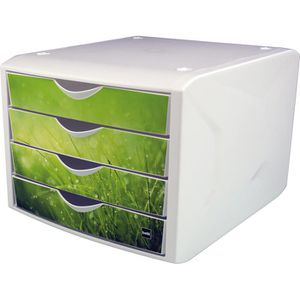 Schubladenbox Helit H61296-50, the chameleon, A4