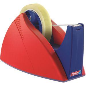 Klebefilmabroller Tesa 57422 Easy Cut, rot / blau