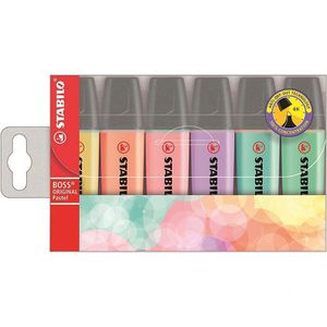 Textmarker Stabilo Boss Original Pastel, 70/6-2