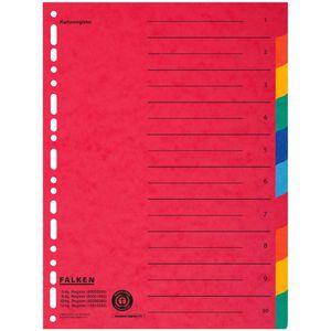 Register Falken 80086390, A4 Überbreite, blanko